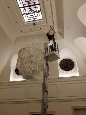 Ceiling Lighting on Lift