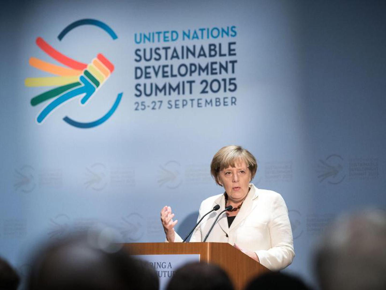 Angela Merkel UN event
