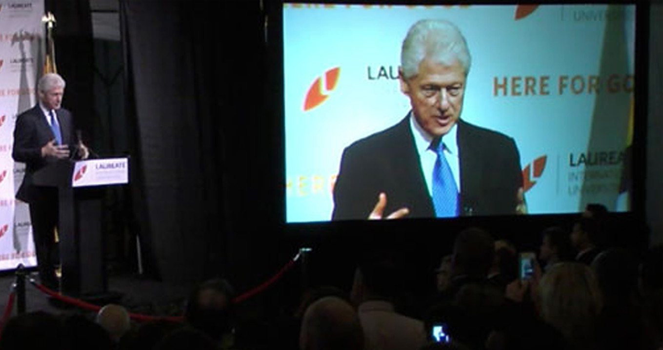 Stratosphere Bill Clinton Laureate Video Cast