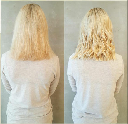 Hair extensions blonde back
