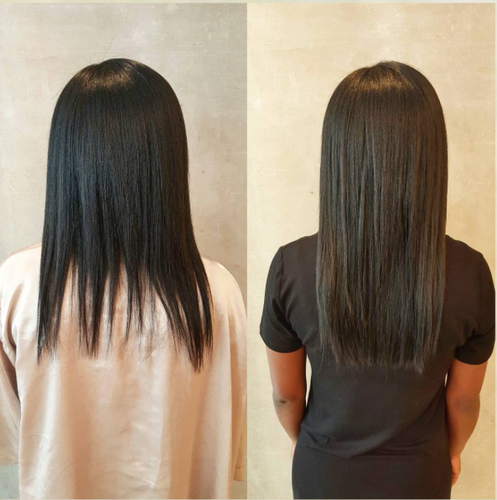 Hair extensions straight back