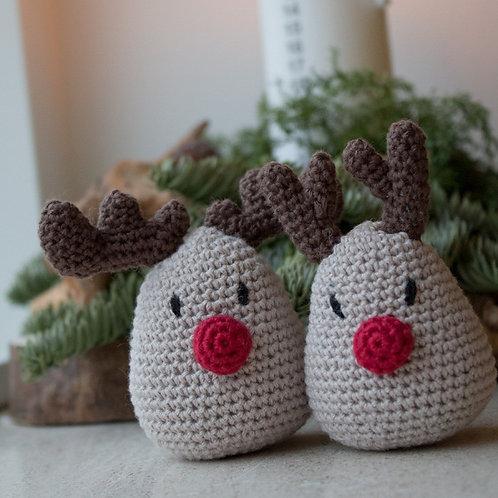 Mini Rudolf - Hækleopskrift