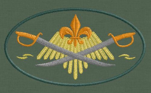 lille emblem med sabler