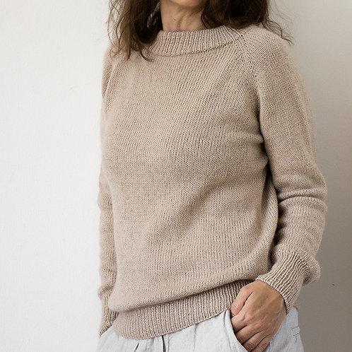 De Luxe Basic sweater - strikket