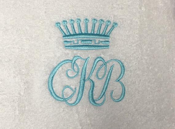 Monogram på håndklæde