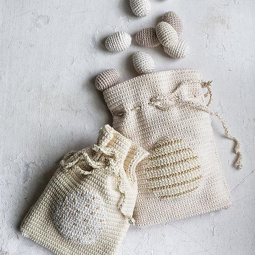 Påskeharens æggepose - Hækleopskrift