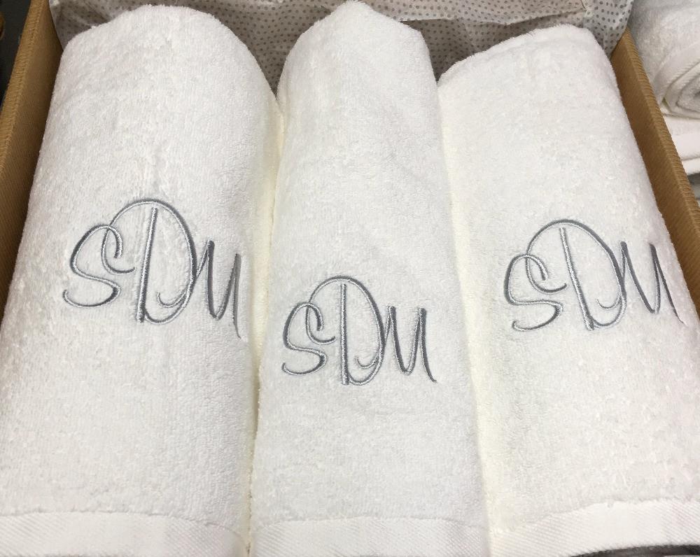 Håndklæde m monogram