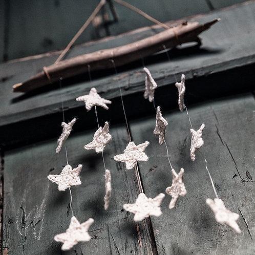 Mini stjerner - Hækleopskrift