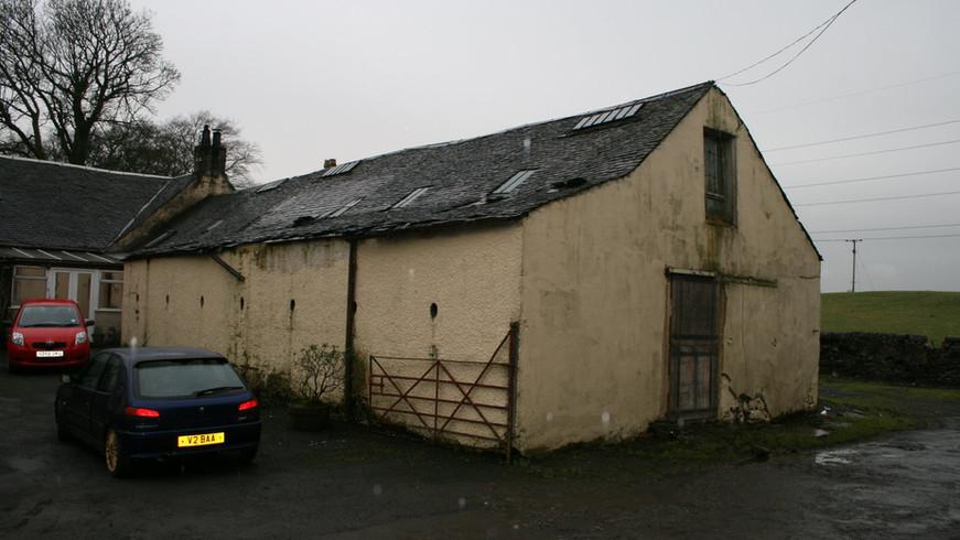 Kilbarchan barn conversion - before