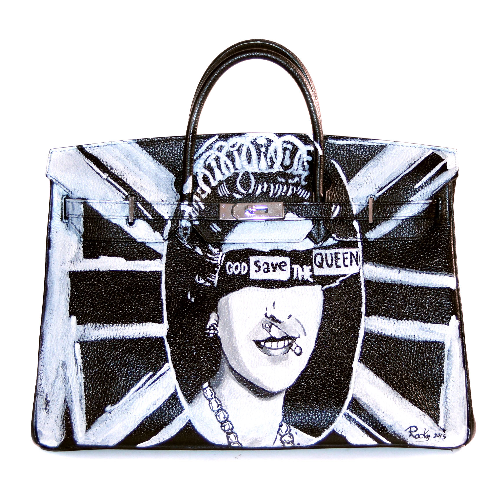 GOD SAVE THE QUEEN BLACK HERMES BIRKIN