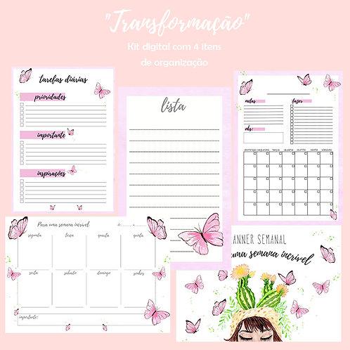 """""""Transformação"""" Kit digital para organização"""
