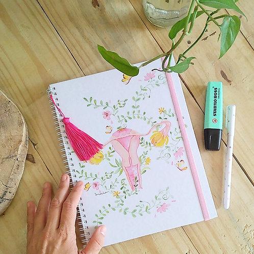 Caderno Útero, flor e poesia A5