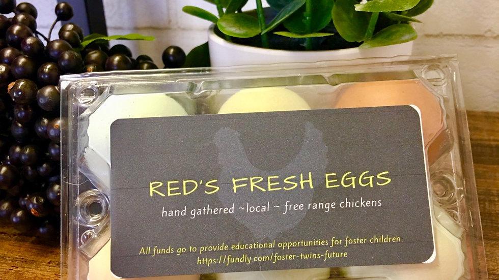 Half dozen farm fresh eggs