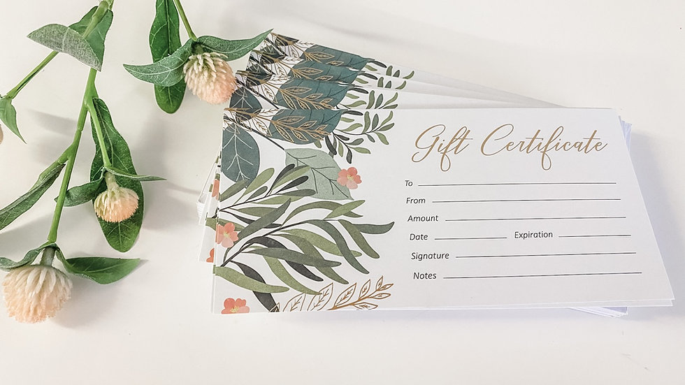 The Elderberry Fairy gift certificate