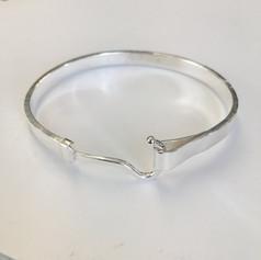 Silver hook bangle