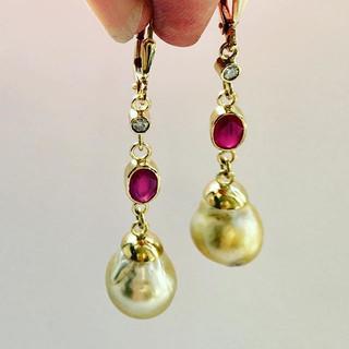 Pearls, rubies and diamonds