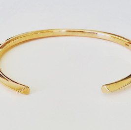 Solid 9ct Gold Cuff Bangle