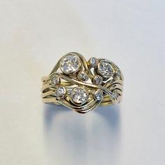 Diamond and 9ct gold