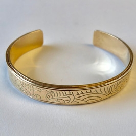 Engraved Gold Cuff