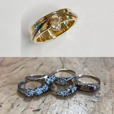 Used the best gold, and best of the diamonds to make into this modern piece.