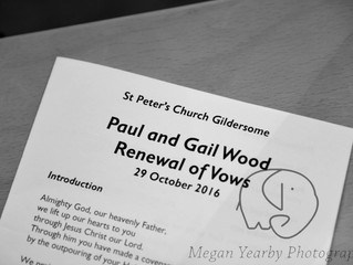 Gail and Paul's wedding vow renewal
