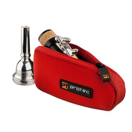 Protec Trombone / Alto Saxophone Mouthpiece Pouch - Neoprene, Single (Red)