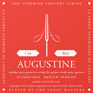 Augustine Red Medium Tension Classical Strings