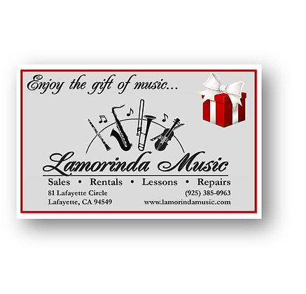 Lamorinda Music Gift Card