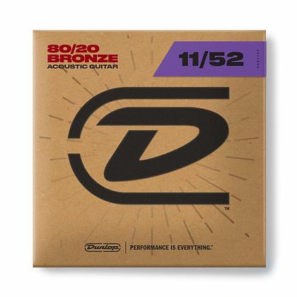 Dunlop 80/20 BRONZE ACOUSTIC GUITAR STRINGS 11-52