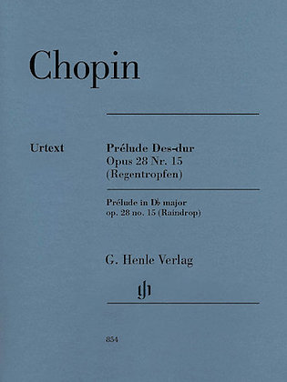 Chopin-PRELUDE IN D-FLAT MAJOR OP. 28, NO. 15 (RAINDROP)