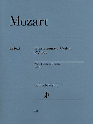 Mozart-PIANO SONATA IN G MAJOR K283 (189H)