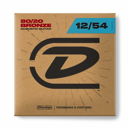 Dunlop 80/20 BRONZE ACOUSTIC GUITAR STRINGS 12-54