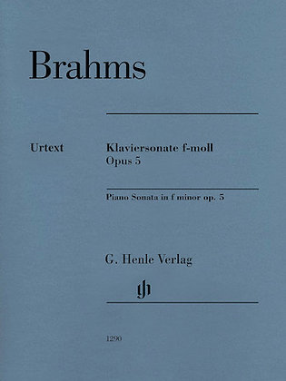 Brahms-PIANO SONATA IN F MINOR, OP. 5