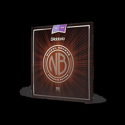 D'Addario Nickel Bronze 11-52 Custom Light Set