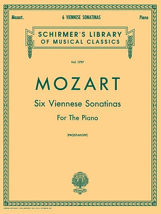 Mozart-6 VIENNESE SONATINAS FOR THE PIANO