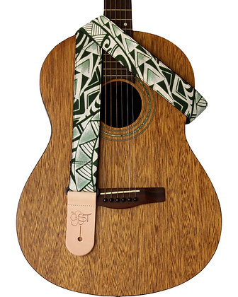 "Green Tapa 2"" Guitar Strap"