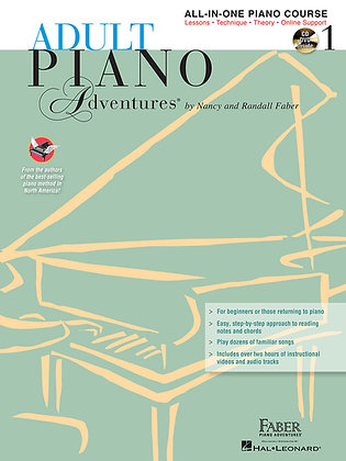 Faber ADULT PIANO ADVENTURES ALL-IN-ONE LESSON BOOK