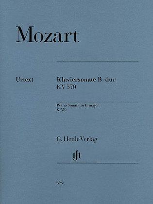 Mozart-PIANO SONATA IN B FLAT MAJOR K570