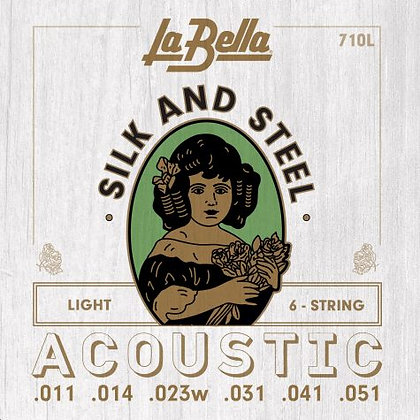LaBella Silk and Steel Acoustic Light