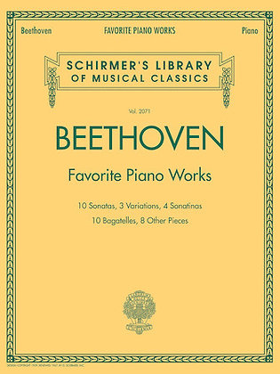 Beethoven Favorite Piano Works