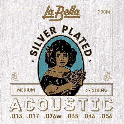 LaBella Silver-plated Medium Acoustic Set