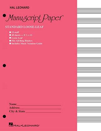 Standard Loose Leaf Manuscript Paper