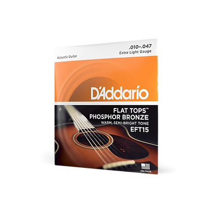 D'Addario Flat Tops 10-47 Extra Light Set