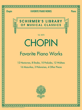 Chopin Favorite Piano Works