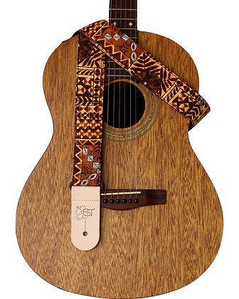 """Brown Tapa 2"""" Guitar Strap"""