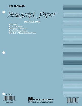 Manuscript Paper Deluxe Pad