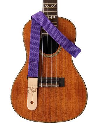 """Poly Purple Uke Strap 1"""""""