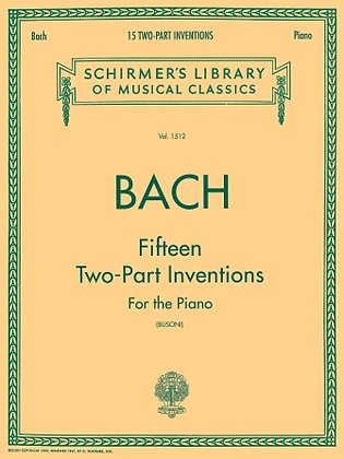 Bach-15 TWO-PART INVENTIONS