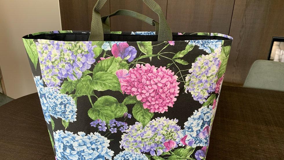 stevige shopper kleurige hortensia