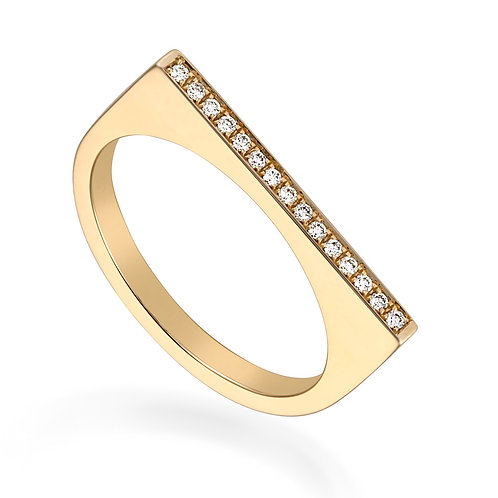 Podium Pave Ring